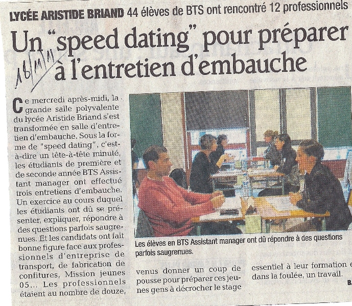 Preparer un speed dating